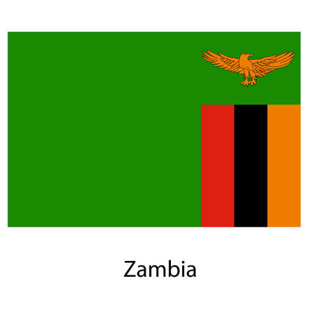 exact: Flag  of the country  zambia. Vector illustration.  Exact colors.