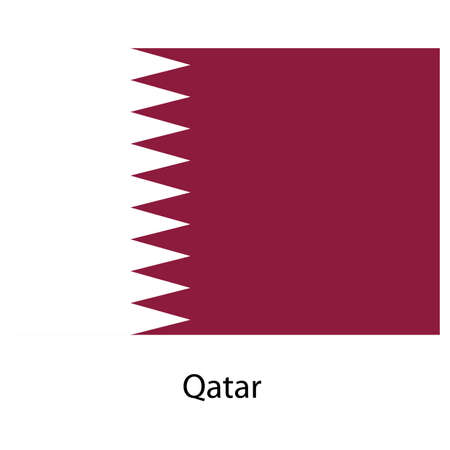 exact: Flag  of the country  qatar. Vector illustration.  Exact colors.  Stock Photo