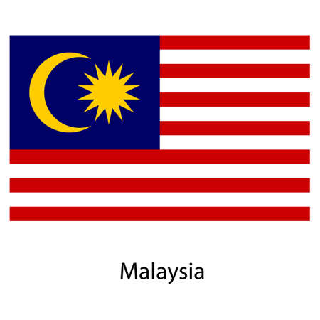exact: Flag  of the country  malaysia. Vector illustration.  Exact colors.