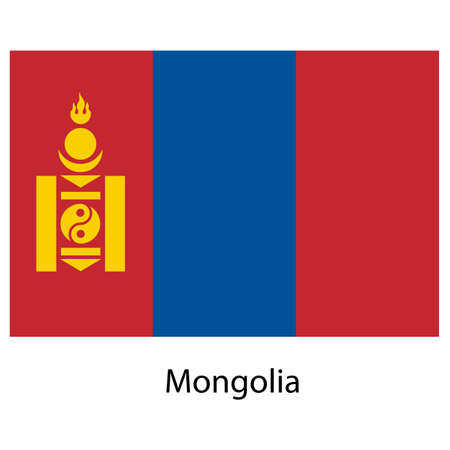 exact: Flag  of the country  mongolia. Vector illustration.  Exact colors.