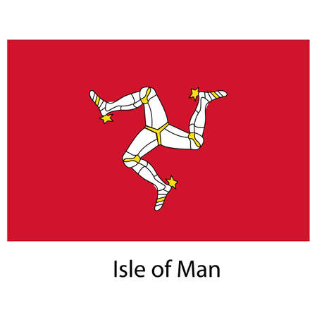 Flag  of the country  isle of man. Vector illustration.  Exact colors.