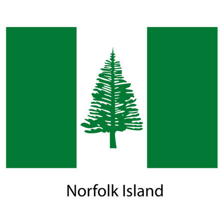 exact: Flag  of the country  norfolk island. Vector illustration.  Exact colors.  Stock Photo