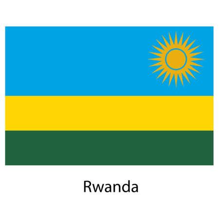 rwanda: Flag  of the country  rwanda. Vector illustration.  Exact colors.