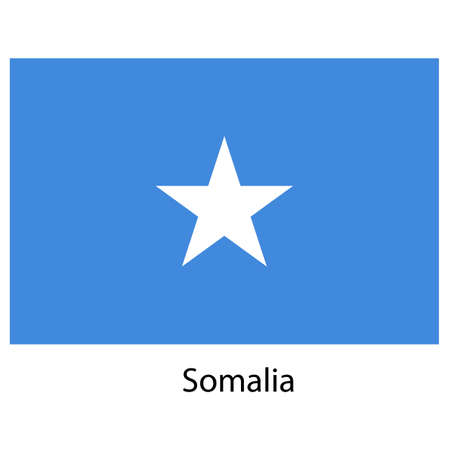 exact: Flag  of the country  somalia. Vector illustration.  Exact colors.  Stock Photo