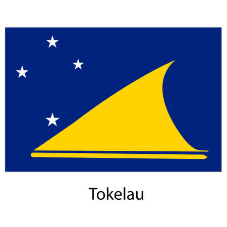 exact: Flag  of the country  tokelau. Vector illustration.  Exact colors.
