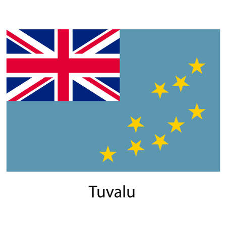tuvalu: Flag  of the country  tuvalu. Vector illustration.  Exact colors.