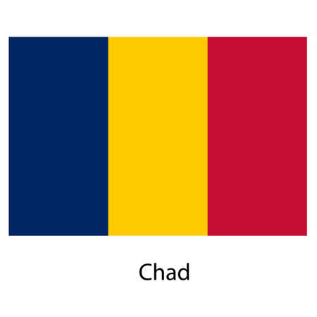 exact: Flag  of the country chad. Vector illustration.  Exact colors.  Stock Photo