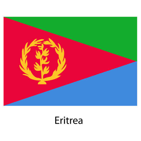 exact: Flag  of the country  eritrea. Vector illustration.  Exact colors.  Stock Photo