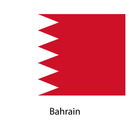 exact: Flag  of the country  bahrain. Vector illustration.  Exact colors.