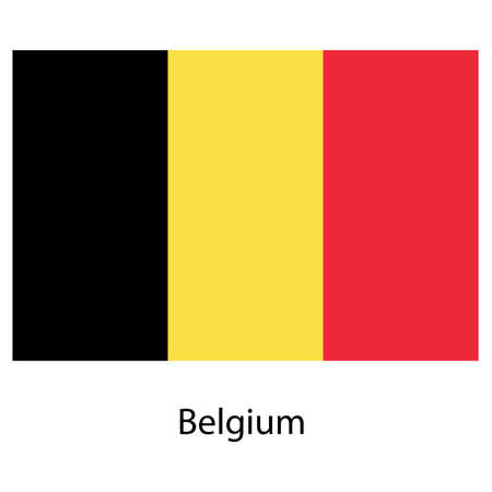 exact: Flag  of the country  belgium. Vector illustration.  Exact colors.