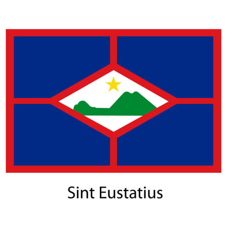 sint: Flag  of the country  sint eustatius. Vector illustration.  Exact colors.