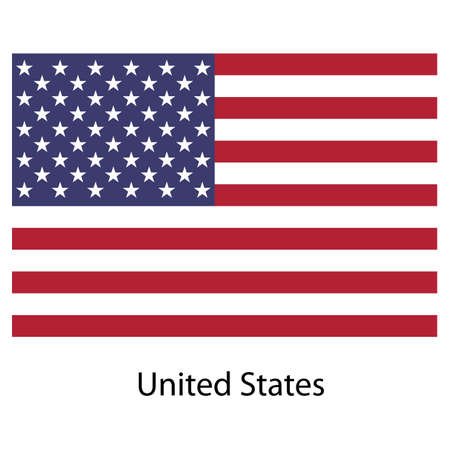 Flag  country  united states of america. Vector illustration.  Exact colors.  illustration