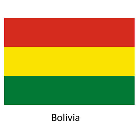 exact: Flag  of the country  bolivia. Vector illustration.  Exact colors.