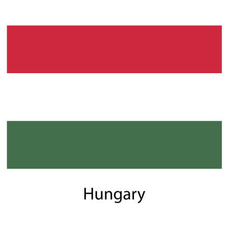 Flag  of the country  hungary. Vector illustration.  Exact colors.