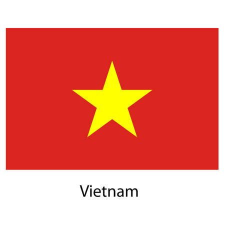 exact: Flag  of the country  vietnam. Vector illustration.  Exact colors.