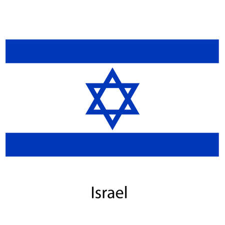 exact: Flag  of the country  israel. Vector illustration.  Exact colors.  Stock Photo
