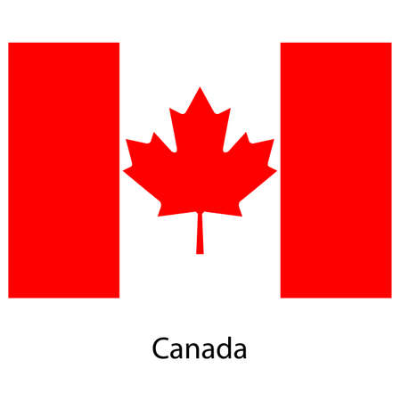 exact: Flag  of the country  canada. Vector illustration.  Exact colors.