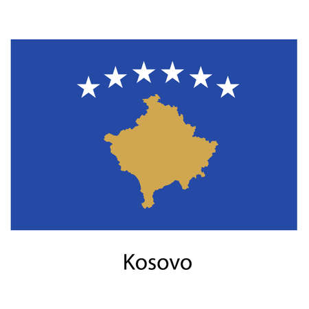 exact: Flag  of the country  kosovo. Vector illustration.  Exact colors.