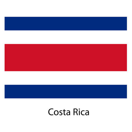 exact: Flag  of the country  costa rica. Vector illustration.  Exact colors.  Stock Photo