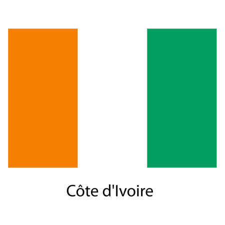 exact: Flag  of the country  cote divoire. Vector illustration.  Exact colors.