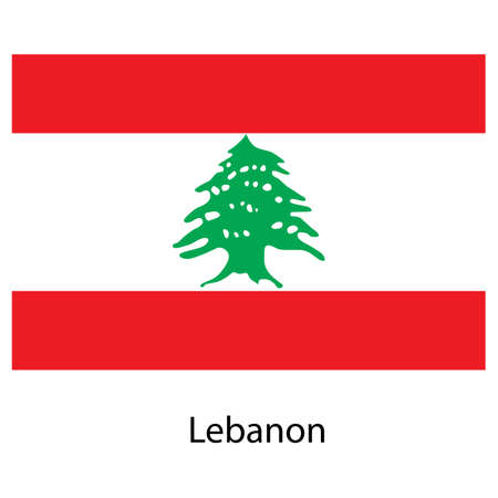 exact: Flag  of the country  lebanon. Vector illustration.  Exact colors.