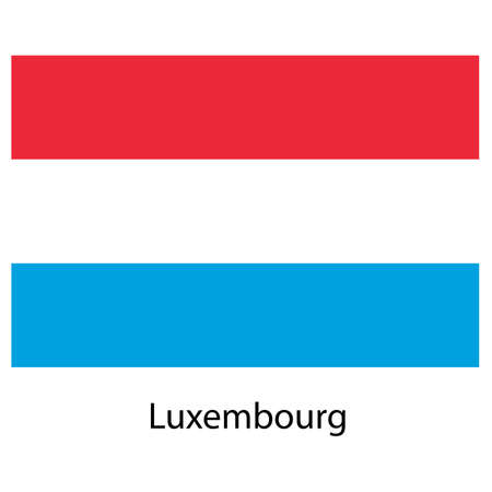 Flag  of the country  luxembourg. Vector illustration.  Exact colors.  illustration