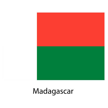 Flag  of the country  madagascar. Vector illustration.  Exact colors.  illustration