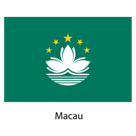 macau: Flag  of the country  macau. Vector illustration.  Exact colors.
