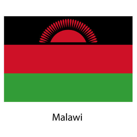 exact: Flag  of the country malawi. Vector illustration.  Exact colors.  Stock Photo