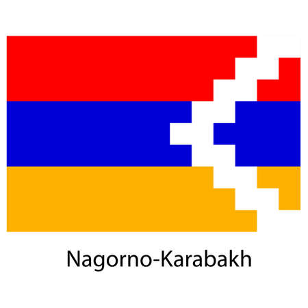 exact: Flag  of the country  nagorno karabakh. Vector illustration.  Exact colors.