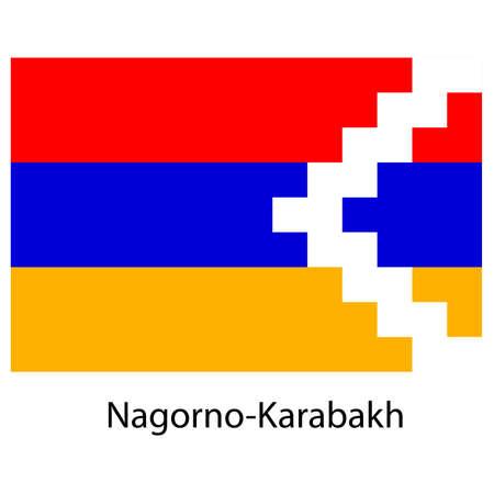 exact: Flag  of the country  nagorno karabakh. Vector illustration.  Exact colors.