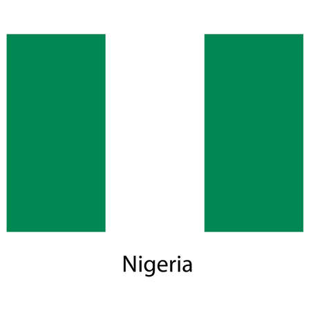 country nigeria: Flag  of the country  nigeria. Vector illustration.  Exact colors.