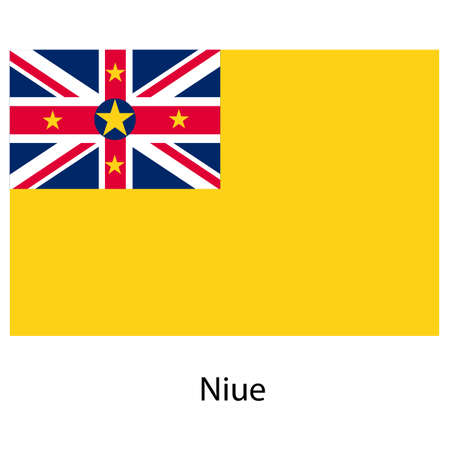 niue: Flag  of the country  niue. Vector illustration.  Exact colors.  Stock Photo