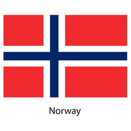 exact: Flag  of the country  norway. Vector illustration.  Exact colors.