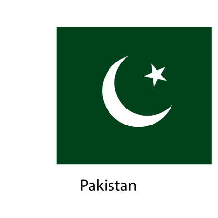 exact: Flag  of the country  pakistan. Vector illustration.  Exact colors.