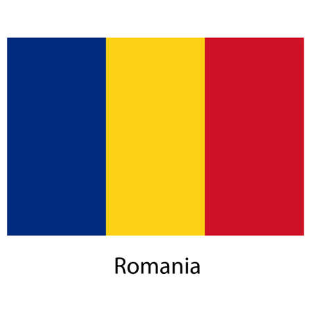 exact: Flag  of the country  romania. Vector illustration.  Exact colors.  Stock Photo