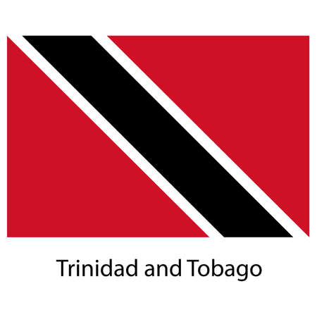 national flag trinidad and tobago: Flag  of the country  trinidad and tobago. Vector illustration.  Exact colors.  Stock Photo