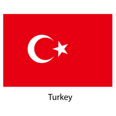 exact: Flag  of the country  turkey. Vector illustration.  Exact colors.