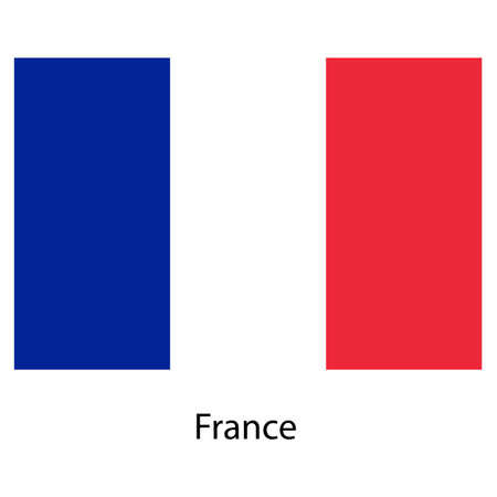 exact: Flag  of the country  franse. Vector illustration.  Exact colors.