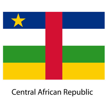 central african republic: Flag  of the country  central african republic. Vector illustration.  Exact colors.