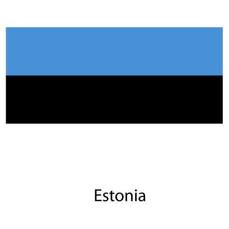 exact: Flag  of the country estonia. Vector illustration.  Exact colors.