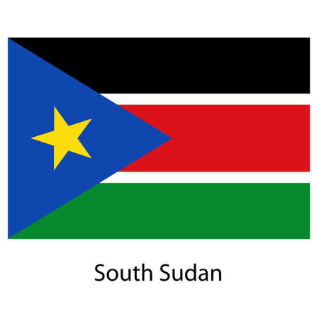 exact: Flag  of the country  south sudan. Vector illustration.  Exact colors.