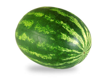 ripe watermelon isolated on white background photo