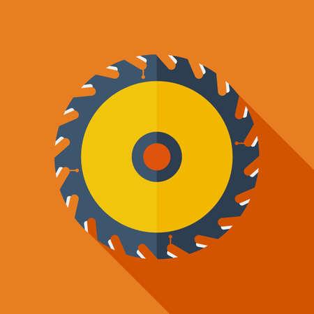 cutting blade: Icono de concepto de dise�o Moderno piso. Rueda circular illustration.Saw Vector. Cortar s�mbolo de la cuchilla.
