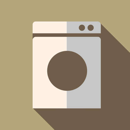 Modern flat design concept icon washing machine. Vector illustration. Vector