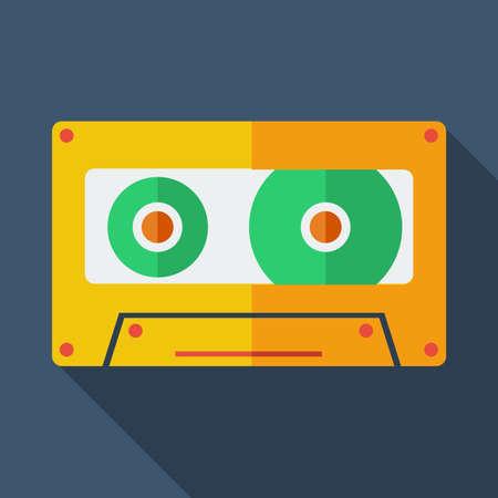 magnetofon: Nowoczesne mieszkanie koncepcja ikony. Magnetofon. Ilustracji wektorowych.