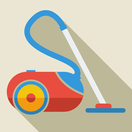 Modern flat design concept icon vacuum cleaner. Vector illustration. Vector