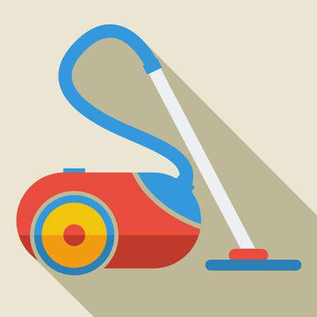 Modern flat design concept icon vacuum cleaner. Vector illustration. Illustration