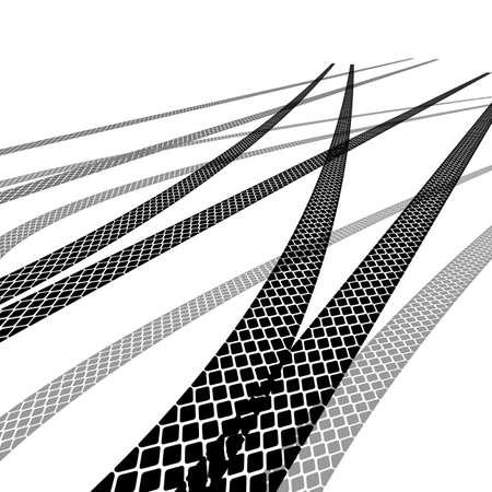 Set of detailed tire prints, vector illustration Vector