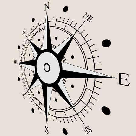 rosa vientos: Rosa de los vientos s�mbolos planos br�jula. Ilustraci�n del vector. Vectores